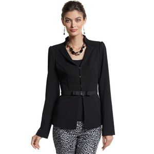 WHBM Ladylike Seasonless Bow Belted Blazer Jacket